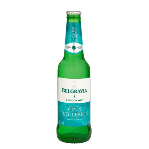 Belgravia Gin & Dry Lemon 275ml 6 Pack
