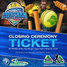 Masters World Series 2019 Closing Ceremony Ticket
