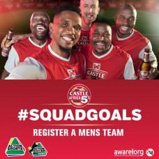 Castle Africa 5's Mens Team Registration Closed